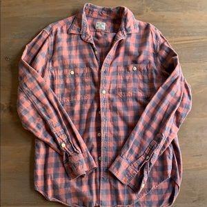 J. Crew men's plaid flannel shirt
